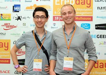 Avec Alexi Tauzin, spécialiste du Community Management, lors de l'ErepDay 2013 à Mulhouse
